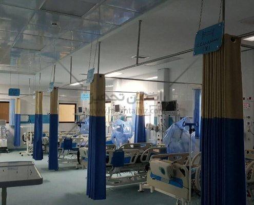 پرده آنتی باکتریال ساخت ایران تولید شده توسط شرکت راستین تجهیز