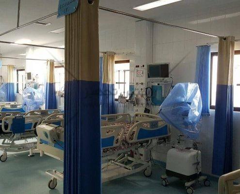پرده آنتی باکتریال بیمارستانی تولید شده توسط شرکت راستین تجهیز