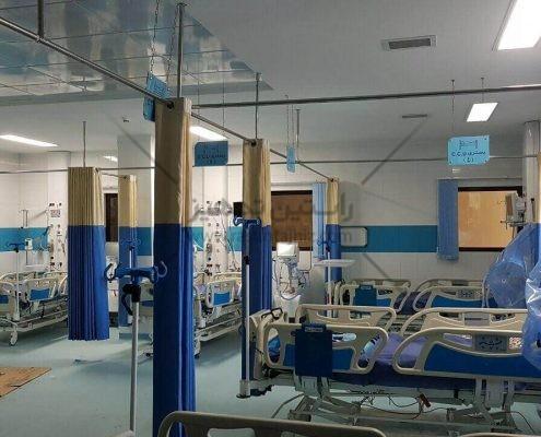 پرده آنتی باکتریال بیمارستانی ساخت ایران تولید شده توسط شرکت راستین تجهیز